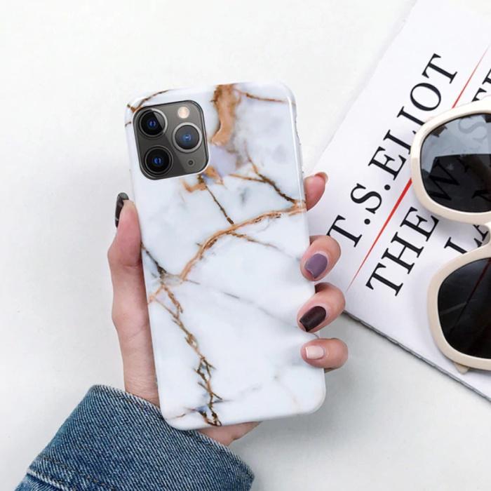 iPhone 6S Plus Hülle Marmor Textur - Stoßfeste glänzende Hülle Granit Abdeckung Cas TPU