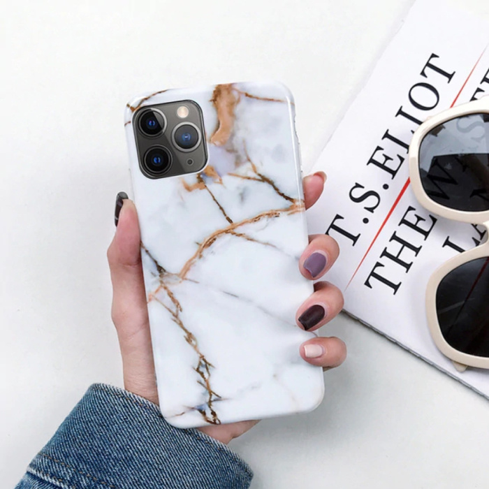 iPhone 11 Case Marble Texture - Shockproof Glossy Case Granite Cover Cas TPU