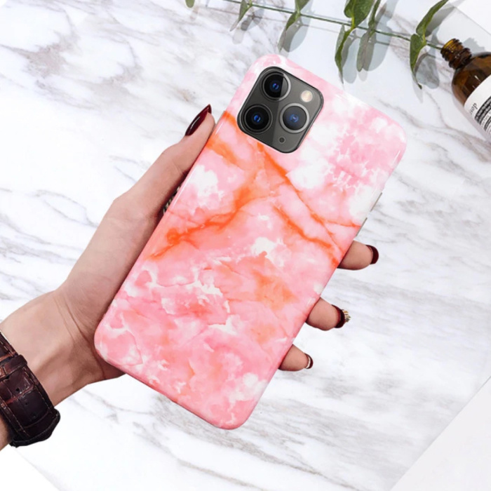 Coque iPhone 11 Pro Marble Texture - Coque antichoc brillante Granite Cover Cas TPU