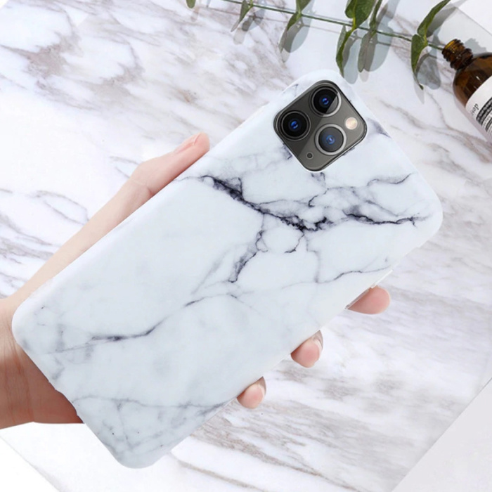iPhone 8 Plus Case Marble Texture - Shockproof Glossy Case Granite Cover Cas TPU