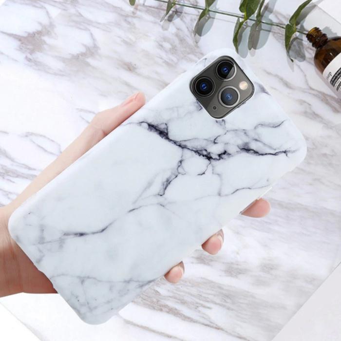 Coque iPhone XS Marble Texture - Coque antichoc brillante Granite Cover Cas TPU