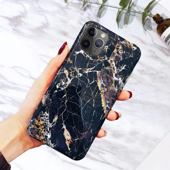 Coque iPhone 11 Pro Max Marble Texture - Coque antichoc brillante Granite Cover Cas TPU