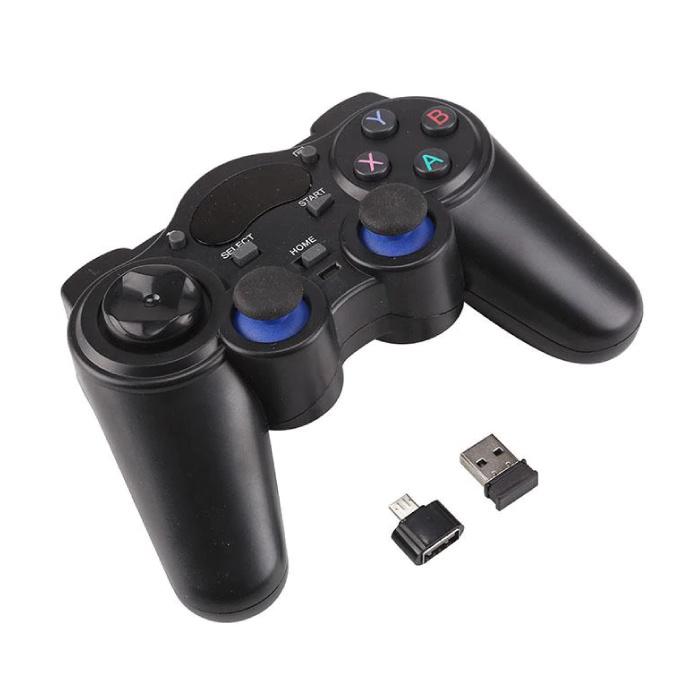 Manette de jeu pour Android / PC / PS3 - Manette de jeu Bluetooth micro-USB noire