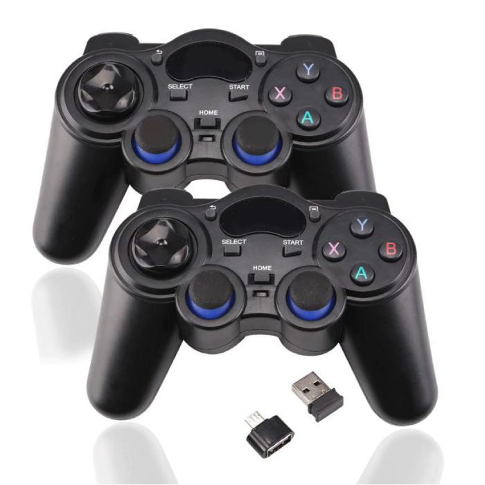 2-Pack Gaming Controller voor Android / PC / PS3  - Micro-USB Bluetooth Gamepad Zwart