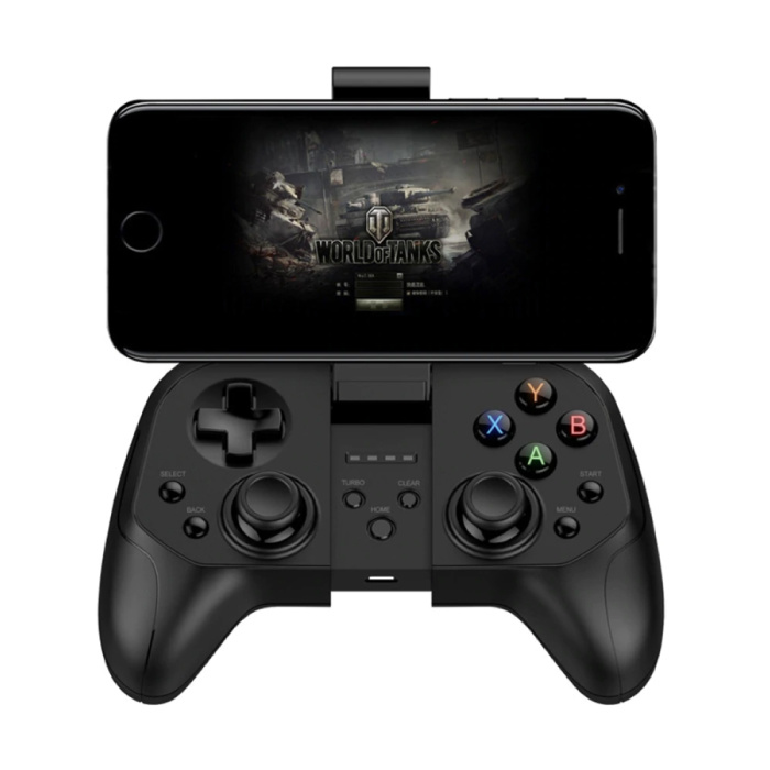 Gaming Controller voor Android/iOS/PC/PS3 - Bluetooth Gamepad Mobiele Telefoon Zwart
