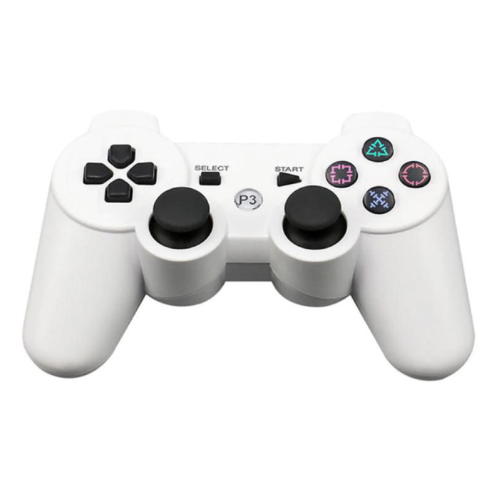 Gaming Controller for PlayStation 3 - PS3 Bluetooth Gamepad White