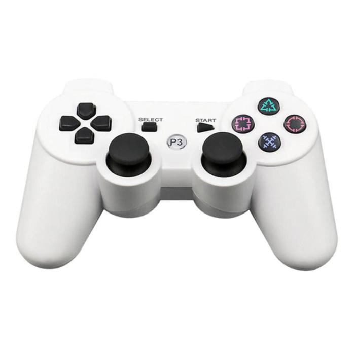Manette de jeu pour PlayStation 3 - Manette de jeu Bluetooth PS3 blanche