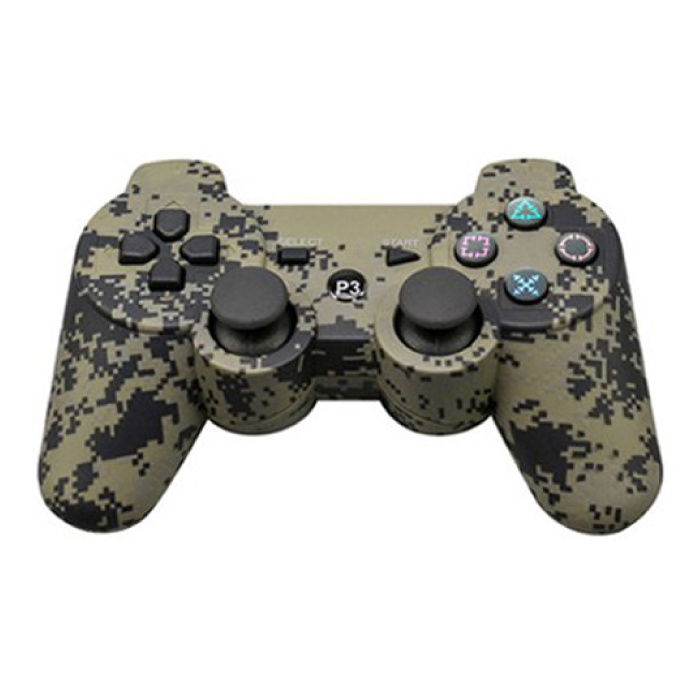Manette de jeu pour PlayStation 3 - PS3 Bluetooth Gamepad Camo
