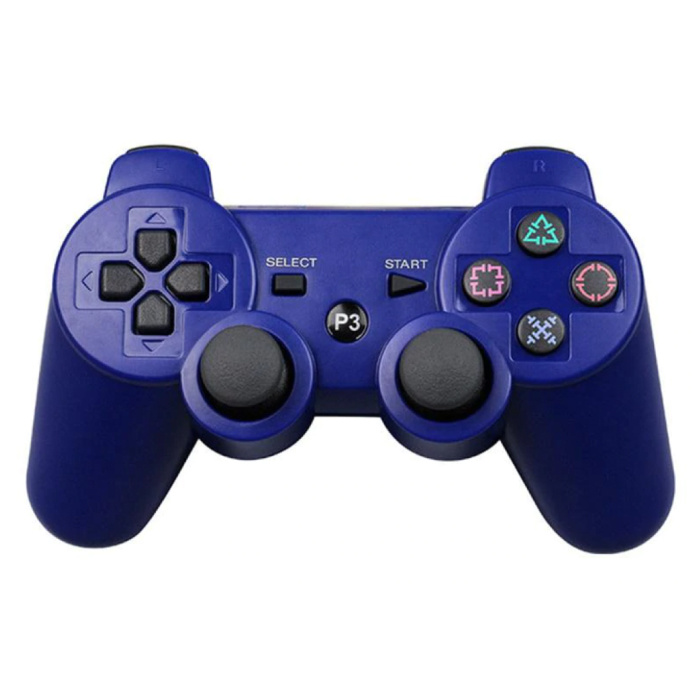 Gaming Controller for PlayStation 3 - PS3 Bluetooth Gamepad Blue
