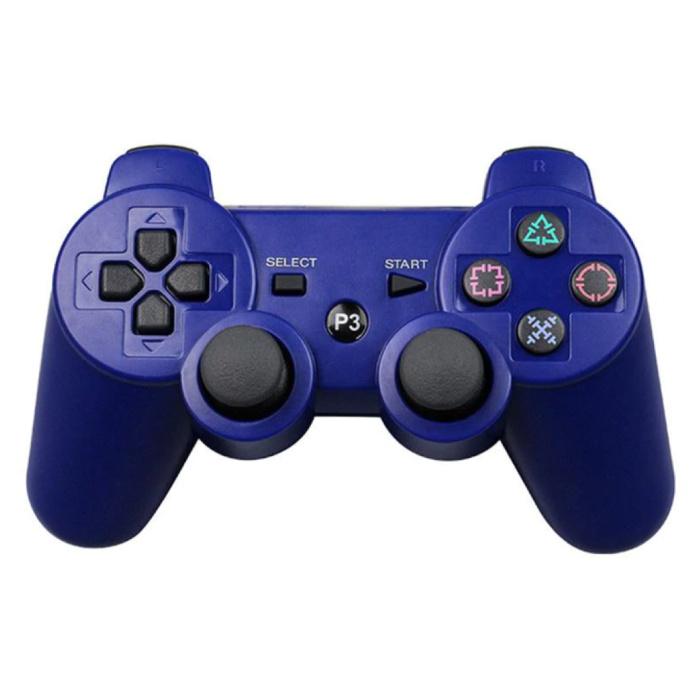 Manette de jeu pour PlayStation 3 - Manette de jeu Bluetooth PS3 bleue