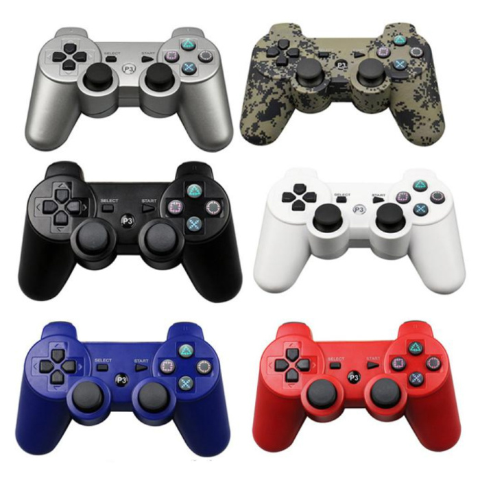 Stuff Certified® Gaming Controller voor PlayStation 3 - PS3 Bluetooth Gamepad Rood