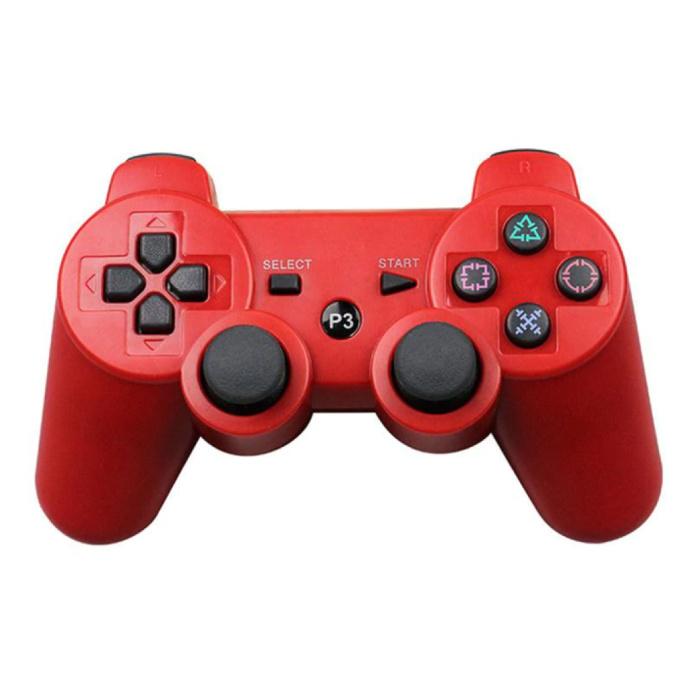 Manette de jeu pour PlayStation 3 - Manette de jeu Bluetooth PS3 rouge