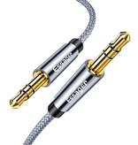 Essager Câble AUX Jack audio en nylon tressé 3,5 mm - 5 mètres
