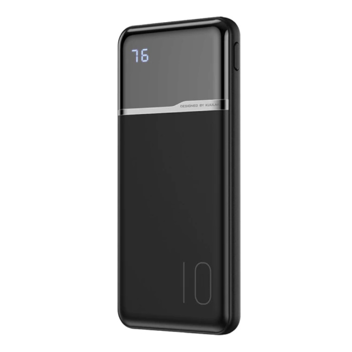 Chargeur de batterie externe Powerbank 10000mAh noir