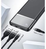 Kuulaa Chargeur de batterie externe Powerbank 10000mAh, blanc