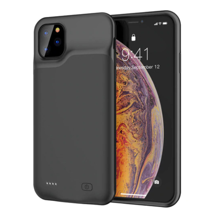 iPhone 11 Pro Max Slim Powercase 6000mAh Powerbank Case Charger Battery Cover Case Black