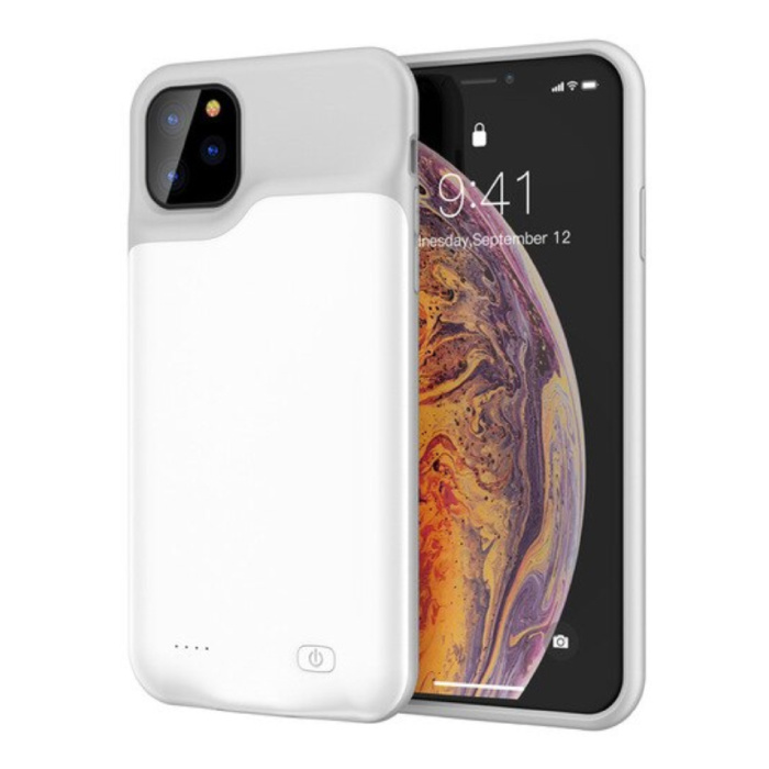 iPhone 11 Pro Max Slim Powercase 6000mAh Powerbank Hoesje Oplader Batterij Cover Case Wit