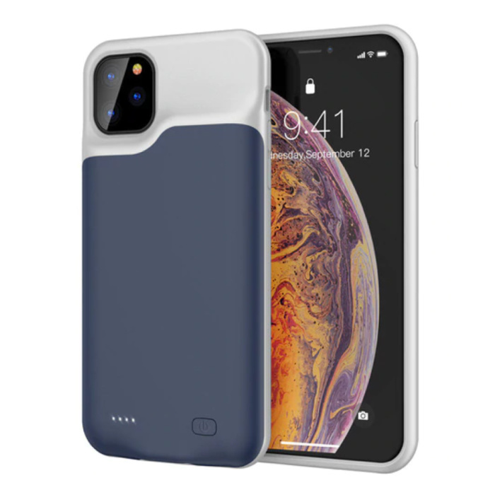 iPhone 11 Slim Powercase 6000mAh Powerbank Case Charger Battery Cover Case Blue