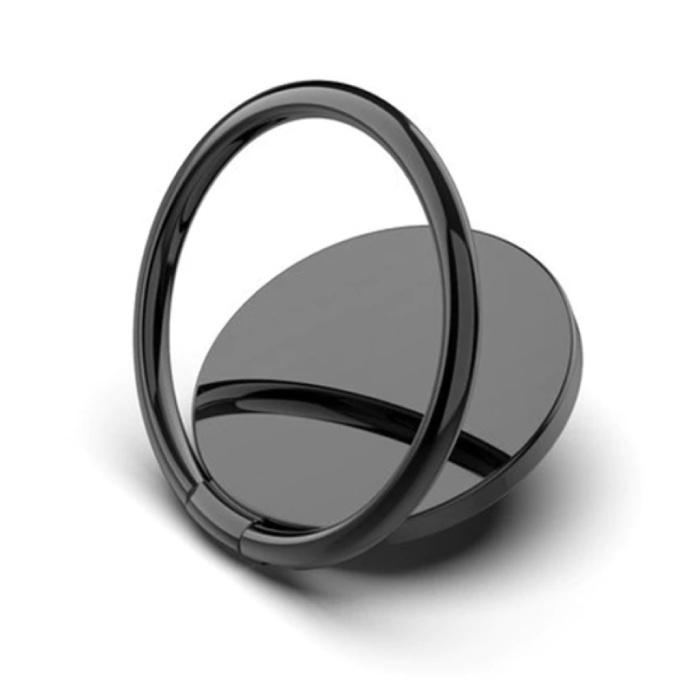 Magnetische Popgrip Telefoonbutton Zuignap Grip Socket Houder Beugel Knop Kickstand Zwart