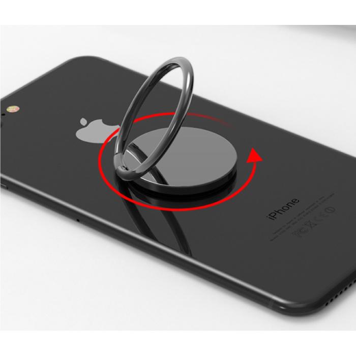 Stuff Certified® Prise Pop magnétique Bouton de téléphone Poignée à ventouse Support de prise Support Bouton Béquille Noir