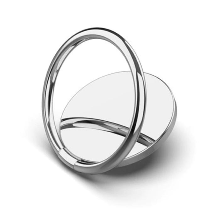 Magnetische Popgrip Telefoonbutton Zuignap Grip Socket Houder Beugel Knop Kickstand Zilver