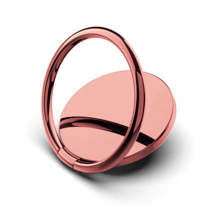 Magnetische Popgrip Telefoonbutton Zuignap Grip Socket Houder Beugel Knop Kickstand Roze