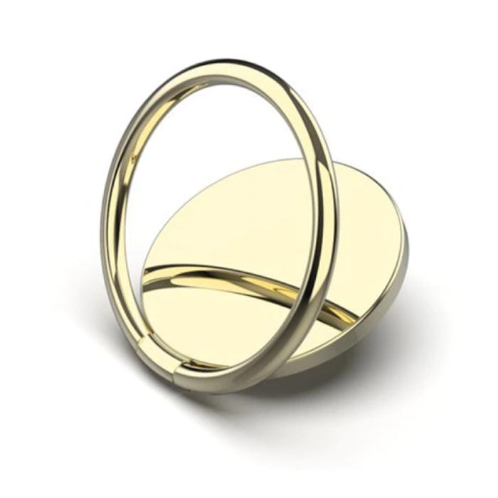 Magnetischer Popgrip-Telefonknopf Saugnapf Griffhalterung Halterung Knopf Kickstand Gold