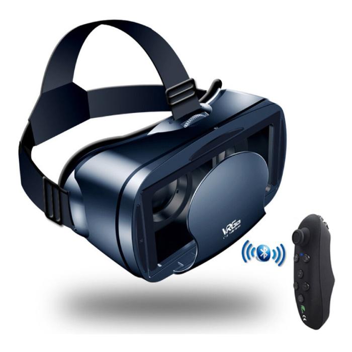 VR Virtual Reality 3D-Brille 120 ° Mit Bluetooth-Fernbedienung für Telefon
