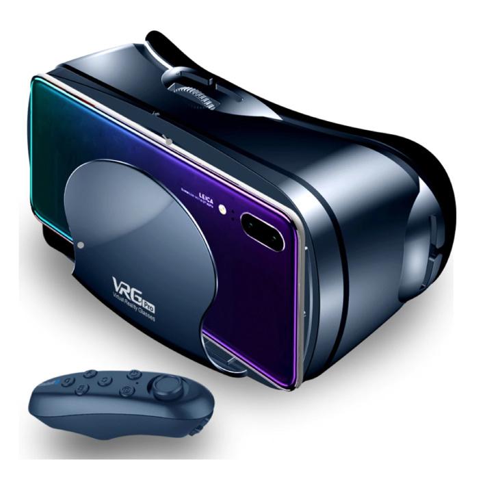ETVR VR Virtual Reality 3D Bril 120° Met Bluetooth Afstandsbediending voor Telefoon