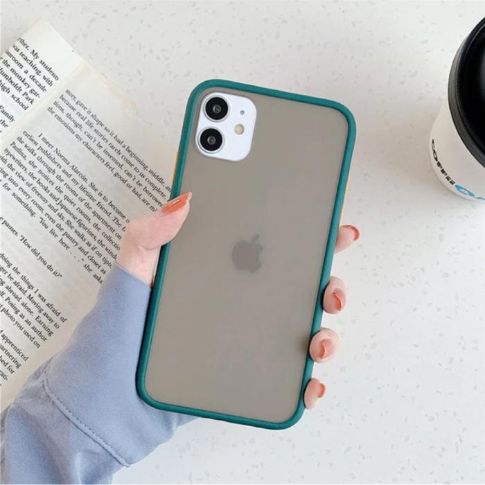 iPhone 8 Plus Bumper Hoesje Case Cover Silicone TPU Anti-Shock Groen