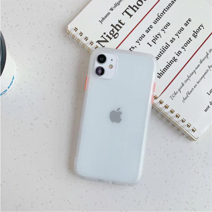 iPhone 8 Plus Bumper Hoesje Case Cover Silicone TPU Anti-Shock Transparant