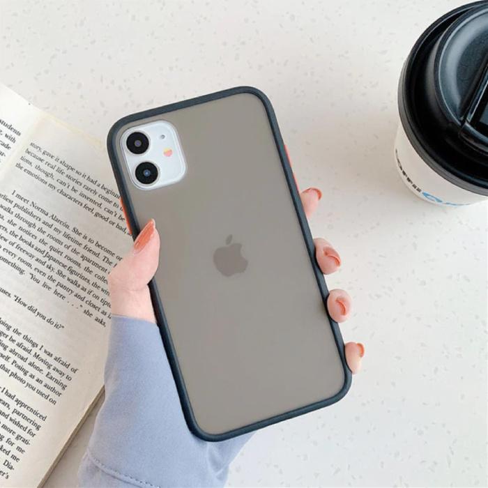 iPhone 8 Plus Bumper Hoesje Case Cover Silicone TPU Anti-Shock Zwart