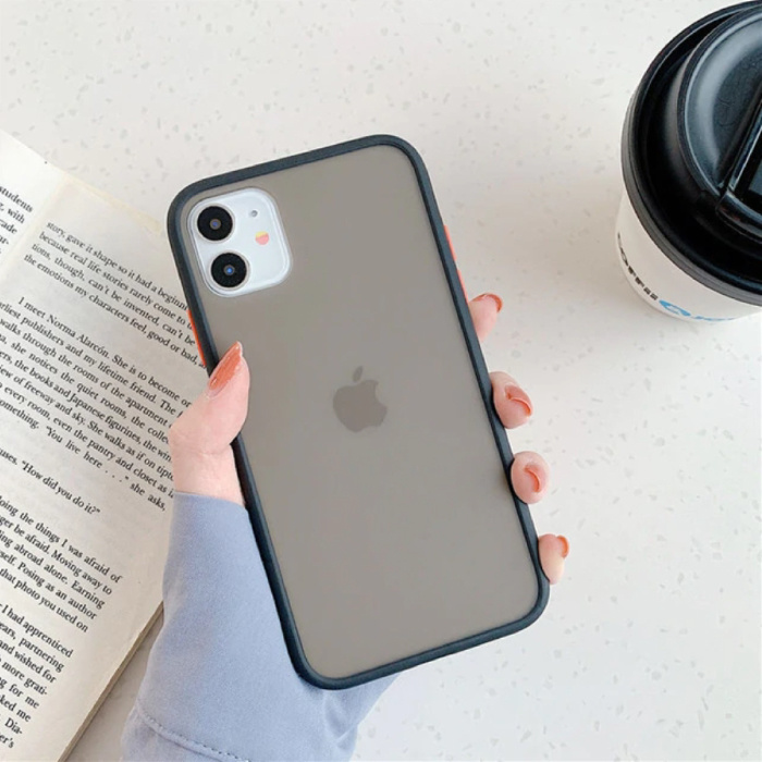 iPhone 8 Bumper Hoesje Case Cover Silicone TPU Anti-Shock Zwart