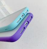 Stuff Certified® Coque Bumper iPhone 8 Plus Silicone TPU Anti-Shock Bleu