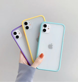 Stuff Certified® Coque Bumper iPhone XS Housse Silicone TPU Anti-Shock Bleu