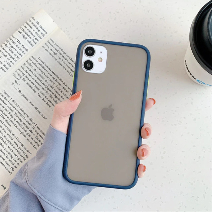 iPhone 11 Pro Max Bumper Hoesje Case Cover Silicone TPU Anti-Shock Blauw