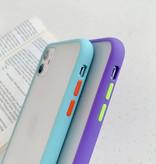 Stuff Certified® Coque Bumper iPhone XS Housse Silicone TPU Anti-Shock Bleu Clair