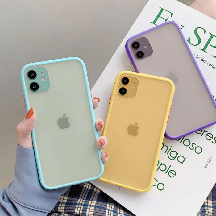 Stuff Certified® Coque Bumper iPhone 7 Plus Silicone TPU Anti-Shock Bleu Clair