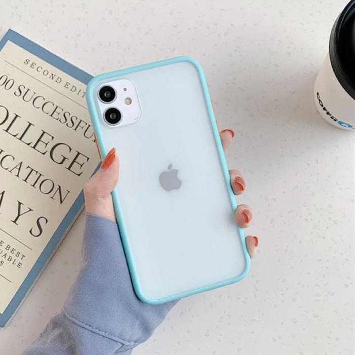 iPhone 11 Pro Max Bumper Hoesje Case Cover Silicone TPU Anti-Shock Lichtblauw