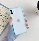 Stuff Certified® Coque Bumper iPhone 8 Plus Silicone TPU Anti-Shock Turquoise