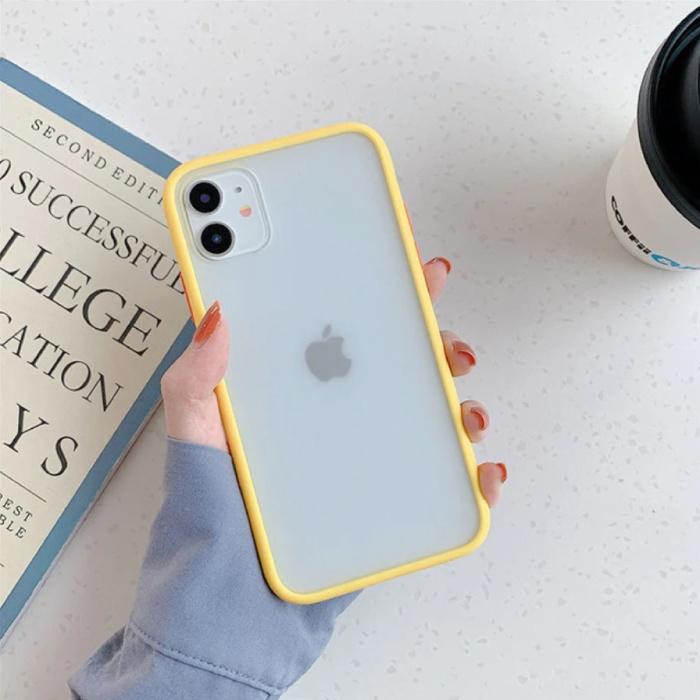 iPhone XS Bumper Hoesje Case Cover Silicone TPU Anti-Shock Geel