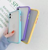 Stuff Certified® Coque iPhone 7 Bumper Housse Silicone TPU Anti-Shock Rouge