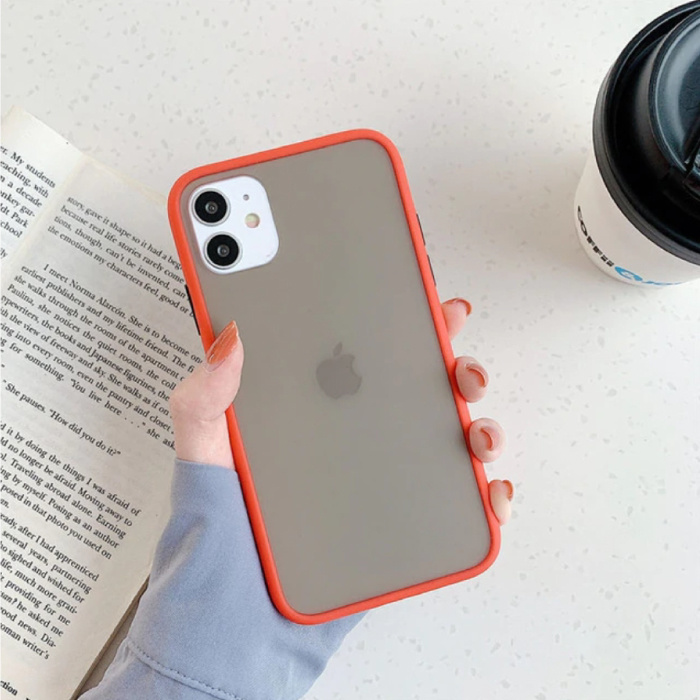 iPhone 11 Pro Max Bumper Hoesje Case Cover Silicone TPU Anti-Shock Rood