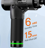 Bandinono Professioneel Massage Apparaat Gun - 30 Standen - 6 Koppen - Inclusief Opbergtas - Sport en Relax - Zilver