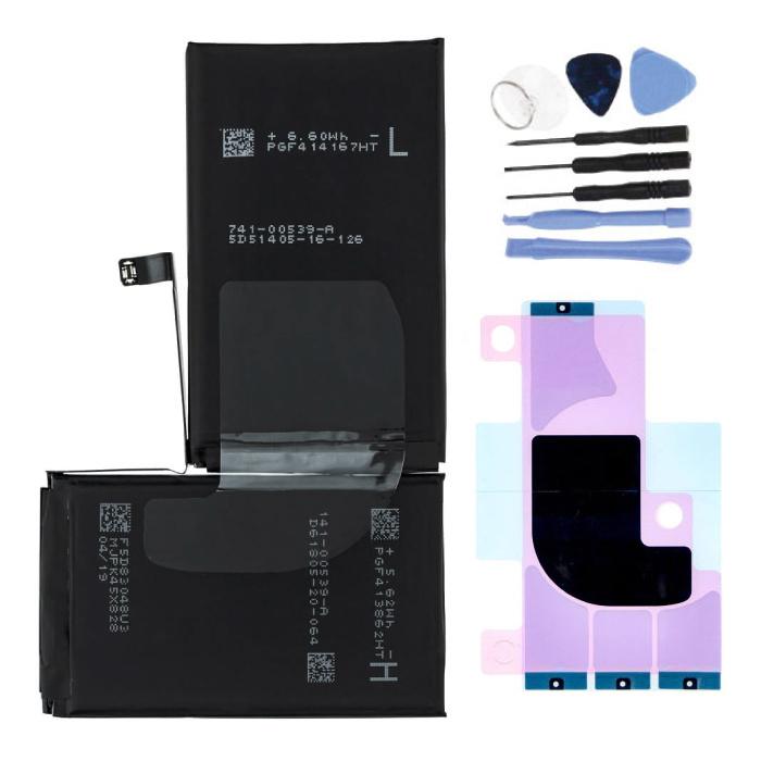 iPhone XS Max Akku / Akku A + Qualität + Werkzeuge & Akku-Aufkleber
