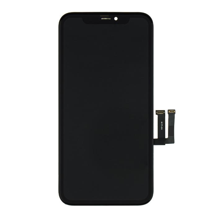 Ekran iPhone'a 11 (ekran dotykowy + OLED + części) Jakość A + - czarny