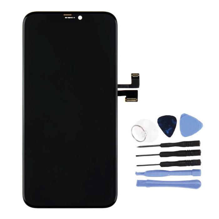 iPhone 11 Pro Scherm (Touchscreen + OLED + Onderdelen) AAA+ Kwaliteit - Zwart + Gereedschap