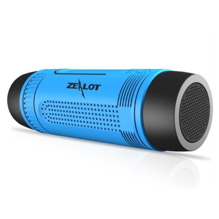 Haut-parleur sans fil S1 avec lampe de poche pour vélo - Soundbar Wireless Bluetooth 5.0 Speaker Box Blue