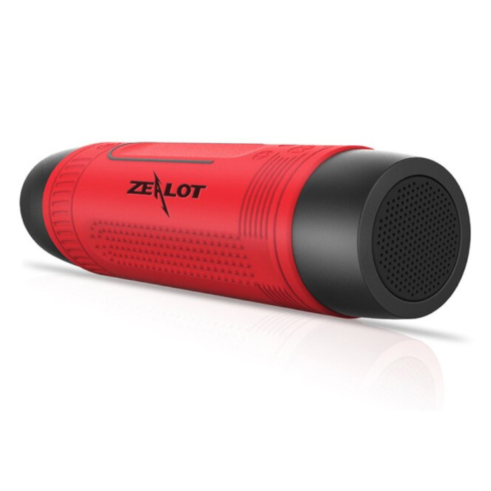 S1 Wireless-Lautsprecher mit Taschenlampe für Fahrrad - Soundbar Wireless Bluetooth 5.0 Speaker Box Rot