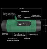 Zealot S1 Wireless Speaker with Flashlight for Bicycle - Soundbar Wireless Bluetooth 5.0 Speaker Box Green